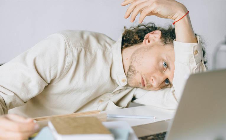 Man feeling a burnout